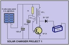 Solar Cell Charger Schematic