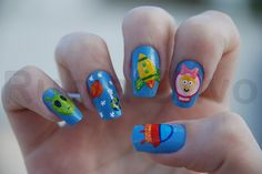 Viagem espacial by Rubia Olivo ~ Nail Art, via Flickr