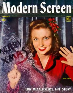 January 1945 Modern Screen magazine with Joan Leslie on the cover.