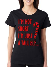 SignatureTshirts Black  I m Just a Tall Elf  Tee - Plus 355faa2b6