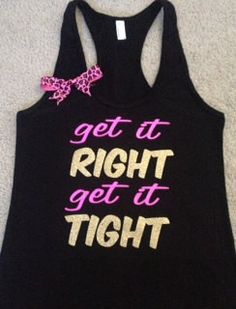 Get it RIGHT Get it TIGHT Racerback Tank | Ruffles with Love