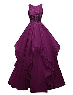 Dresstells® Long Prom Dress Asymmetric Bridesmaid Dress Beaded Organza Gown Grape Size 18W Dresstells http://www.amazon.com/dp/B018G58LS8/ref=cm_sw_r_pi_dp_ogaJwb1VWHPZ5