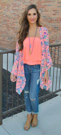 Boho Beauty Paisley Kimono | Haute Pink Boutique