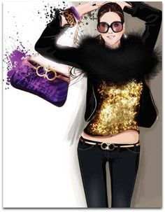 Trendy Fashion Illustration by Bree Leman