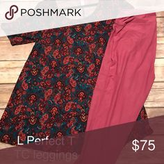 Perfect T and TC leggings Large perfect with solid TC leggings LuLaRoe Pants Leggings