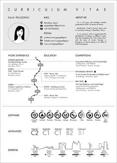 The Top Architecture Resume / Cv Designs, submitted by Gaia Pellegrini - Architecture Organique Portfolio D'architecture, Portfolio Resume, Portfolio Examples, Resume Design Template, Cv Template, Resume Templates, Architectural Cv, Conception Cv, Layout Print