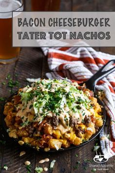 Bacon Cheeseburger Tater Tot Nachos with Bic Mac Special Sauce | sharedappetite.com