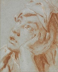 Giovanni Battista Tiepolo (Venice 1696-1770), Head of a Boy in a Cap, Looking up to the Left, His Left Hand to His Cheek. Red and white chalk on blue paper, 9⅞ x 8 in (24.9 x 20.2 cm). Estimate £200,000-300,000. This lot is offered in Old Master & British Drawings on 5 July 2016 at Christie's in London, King Street