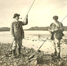 Dr Edwin Pryce-Tannatt and Friend - Pryce-Tannatt (1881-1965) was a doctor of medicine, editor of England's Salmon and Trout Association magazine, and author of the highly regarded How to Dress Salmon Flies. Source: Manfred Schotten Antiques