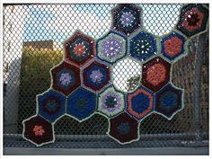 Crystal Gregory juxtaposes soft crochet against hard urban landscapes