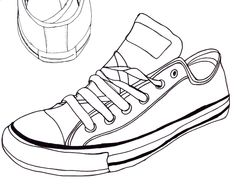 converse sneaker line art | Converse Drawing 1 by The-Haunted