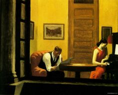 Room in New York (1932) Edward Hopper. Oil on Canvas. 29 x 36 in.  Sheldon Memorial Art Gallery - University of Nebraska - Lincoln, NE
