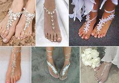 Beach wedding footwear! Awesome!