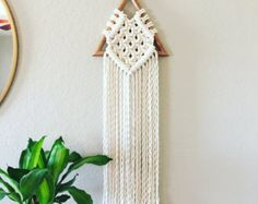 Macrame Wall Hanging / Modern Macrame / Tapestry by JoyLoopDesigns