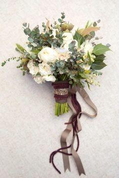 зеленый свадьба Florals с лентой 1