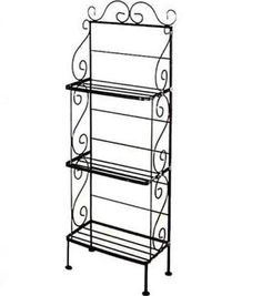 """Light 24"""" Wrought Iron Baker's Rack - 3 Wire Shelves by Grace Manufacturing"""
