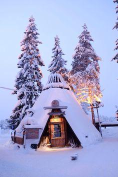 Santa's Salmon Place. Kittila, Lapland, Finland. (Photography by gary2012haha via Flickr)