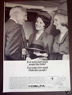 Airline Stewardess 1967 | Delta Airline Stewardess Photo (1967)
