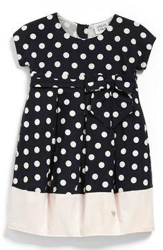Armani Junior Polka Dot Dress (Toddler Girls) available at #Nordstrom