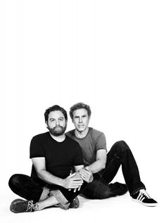 Zach Galifianakis and Will Ferrell by Emily Shur