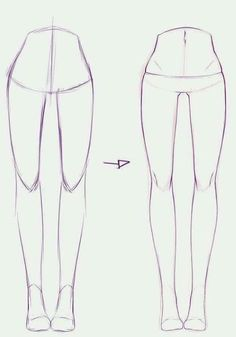 How to draw: frontview legs