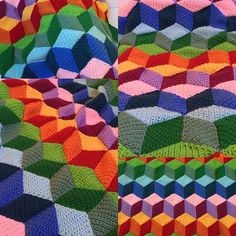 A fun and vibrant optical illusion blanket that will stun adults and children alike. This is a child-sized blanket for a toddler or baby but can easily be made larger.