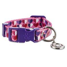 "Bond & Co. Pink Heart Collar, For Necks 6""-8"" | Petco Store"