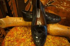 80s 90s Hand Made Italian Genuine Croc & by HippieGypsyBoutique