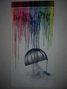 charcoal drawing with crayon art... so pretty!