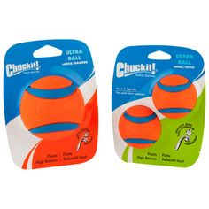 Chuckit! Ultra Tennis Ball Dog Toy - My dog can and WILL destroy any toy I give him. These balls are THE ONLY toy that he can't rip apart! He can squish them and they don't crack, they don't have a fuzzy outside to rip off and he doesn't puncture them with his Pitbull teeth and strong jaws! I love them!