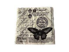 serviette papier spéciale serviettage motif papillons nature
