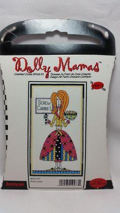 Counted Cross Stitch Kit Dolly Mamas SCREW CARBS! #019-0477 Janlynn #Janlynn #Multi