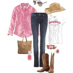 """Contemporary Cowgirl"" by pamnken on Polyvore"
