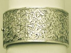 An fine and impressive antique sterling silver bangle; part of the antique jewellery / estate jewelry collections at Fab! Silver  http://www.acsilver.co.uk/shop/pc/Sterling-Silver-Bangle-Antique-Victorian-35p4574.htm
