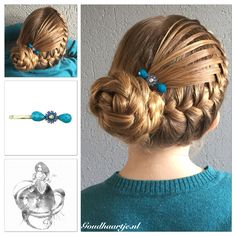Feathered french braid into a bun with a gorgeous and elegant bobby pin from Goudhaartje.nl   #hair #hairstyle #hairideas #hairinspiration #eleganthair #longhair #beautifulhair  #hairaccessories #goudhaartje #hairstyles #hairdye #hairdo #fashion #blonde #hairoftheday #hairfashion #updo #braidedupdo #braid #braids #braidinspiration #love #bobbypin #vlecht #vlechten #opgestoken