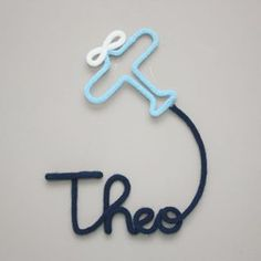 Wire Crafts, Diy And Crafts, Crochet Letters, Wire Wall Art, Rope Decor, Business Baby, Spool Knitting, Rope Art, Baby Room Diy