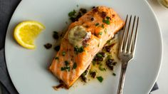 Salmon with Anchovy Garlic Butter