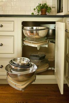 LOVE that the door is normal - NOT corner lazy susan, cabinets, Cyndy Craig Cantley, CKD Beautiful Kitchens, Small Kitchen, Kitchen Remodel, New Kitchen, Kitchen Dining Room, Kitchen Dining, Home Kitchens, Kitchen Organization, Kitchen Design