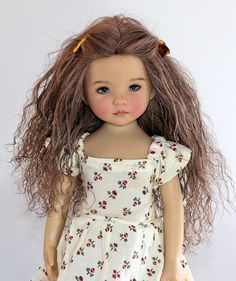 Brunette (Brown) Tibetan Mohair Wig for Little Darling