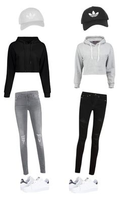 """""""Lisa and Lena"""" by whitney555 ❤ liked on Polyvore featuring Boohoo, Yves Saint Laurent, 7 For All Mankind, adidas, Topshop, men's fashion and menswear"""