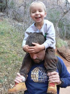 When little legs get tired, hitch a ride on the way back from the Emerald Pools at Zion NP. The Lemonade Digest