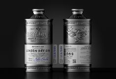 Bryson's Gin - Metal Packaging on Packaging of the World - Creative Package Design Gallery
