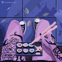 vaporwave png Need a break. by Valenb - vaporwave Purple Aesthetic, Aesthetic Art, Aesthetic Anime, Anime Pixel Art, Anime Art, Pixel Art Background, 8 Bit Art, Vaporwave Art, Art Boards