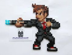 10th Doctor David Tennant - Doctor Who perler beads by Subatomicdeathkitten Designs