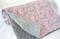 Girls Large Minky Baby Blanket by LoraBelle  by LoraBelleBoutique, $32.00