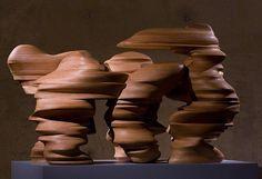 Tony Cragg - Round the Block, wooden sculpture (2003), in Museum Beelden aan Zee, The Hague. photo by Haags Uitburo, via Flickr
