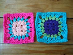 Ravelry: Project Gallery for Free SmoothFox's Flower Button Granny Square 6x6 pattern by Donna Mason-Svara