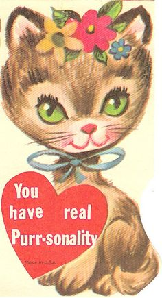 1960s Valentine cat @Design Hub Cozzolino I'm thinking of this cat for my next painting. Thoughts?