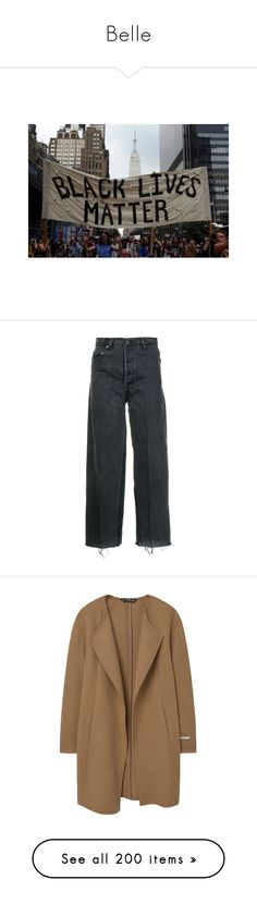 """""""Belle"""" by the-lonely-wallflower ❤ liked on Polyvore featuring photo, pictures, jeans, pants, bottoms, black, cropped jeans, wide leg jeans, wide leg cropped jeans and vintage wide leg jeans"""