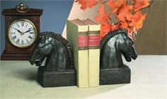 Bronze Iron Horsehead Bookends $92.99